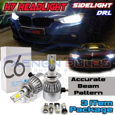 BMW F30 PACKAGE DEAL DIPPED BEAM SIDELIGHTS DAYTIME LIGHTS LED WHITE SUPER BRIGHT